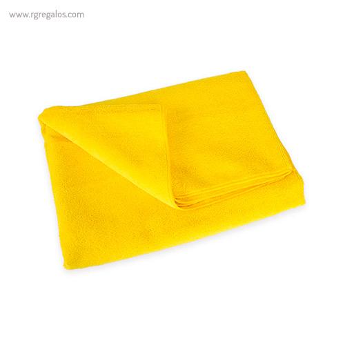 Toalla microfibra rizo amarillo - RG regalos publicitarios