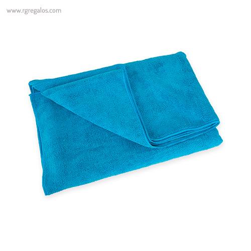 Toalla microfibra rizo azul - RG regalos publicitarios