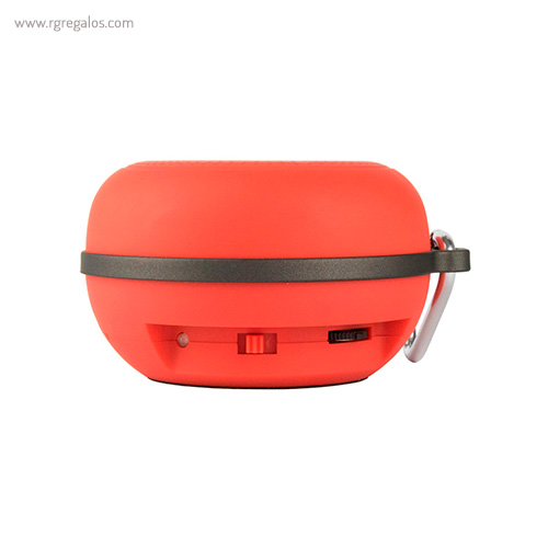 Altavoz inalámbrico portatil rojo - RG regalos publicitarios