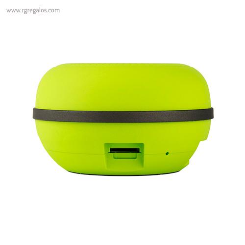 Altavoz inalámbrico portatil verde - RG regalos publicitarios
