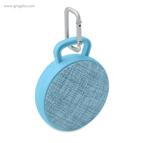 Altavoz publicitario cuadrado azul celeste - RG regalos publicitarios