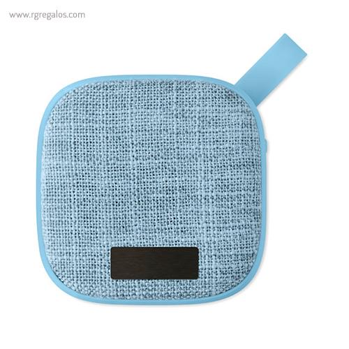 Altavoz publicitario cuadrado azul claro placa - RG regalos publicitarios