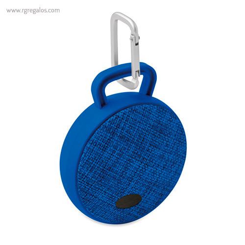 Altavoz publicitario cuadrado azul con placa - RG regalos publicitarios