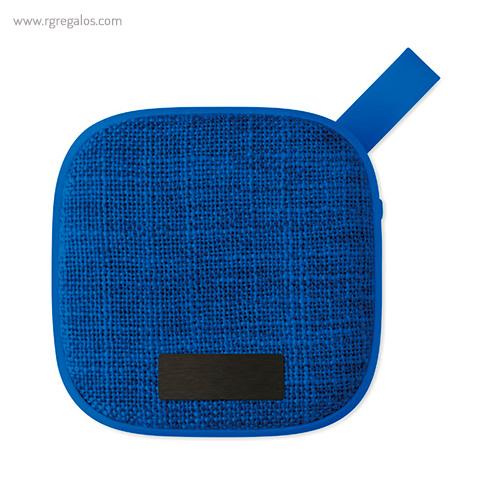 Altavoz publicitario cuadrado azul placa - RG regalos publicitarios