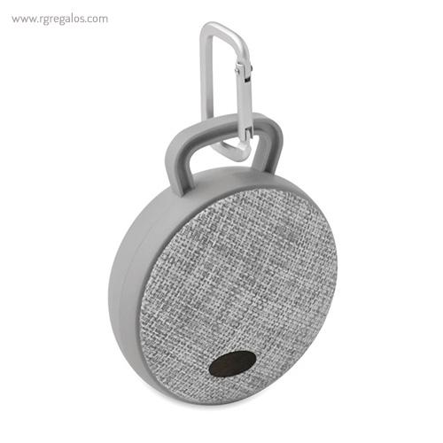 Altavoz publicitario cuadrado gris con placa - RG regalos publicitarios