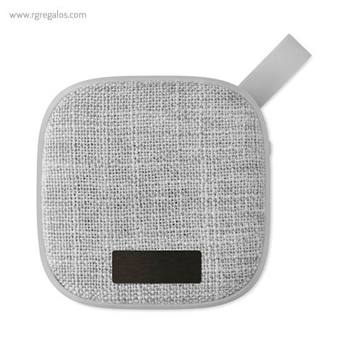 Altavoz publicitario cuadrado gris placa - RG regalos publicitarios