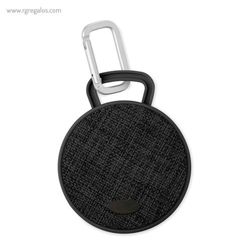 Altavoz publicitario cuadrado negro con placa - RG regalos publicitarios