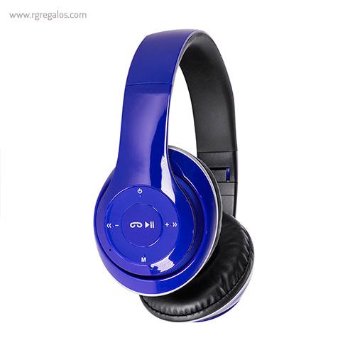 Auriculares inalámbricos 4.1 azules lateral - RG regalos publicitarios