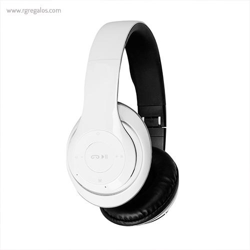 Auriculares inalámbricos 4.1 blancos lateral - RG regalos publicitarios
