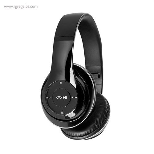 Auriculares inalámbricos 4.1 negros lateral - RG regalos publicitarios