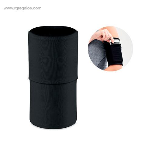 Brazalete deportivo móvil negro detalle - RG regalos de empresa