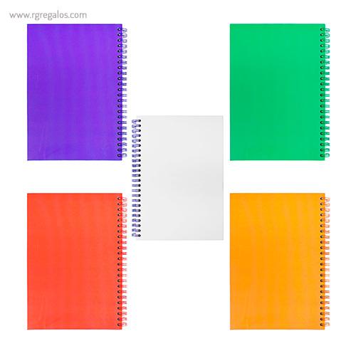 Cuaderno A5 combinado colores - RG regalos publicitarios
