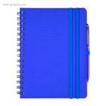 Cuaderno con bolígrafo azul - RG regalos publicitarios