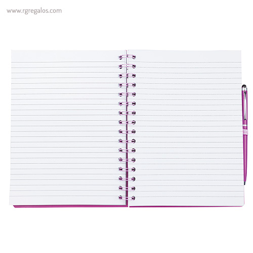 Cuaderno con bolígrafo hojas - RG regalos publicitarios