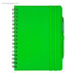 Cuaderno con bolígrafo verde - RG regalos publicitarios