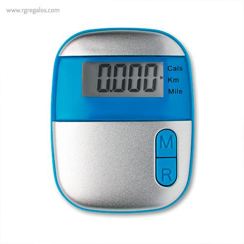 Podómetro con clip azul - RG regalos publicitarios