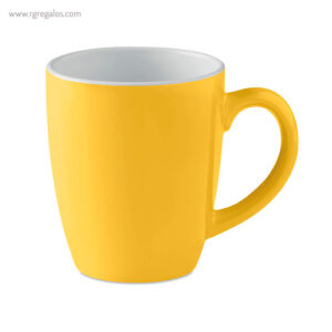 Taza cerámica colores 300 ml amarillo - RG regalos publicitarios