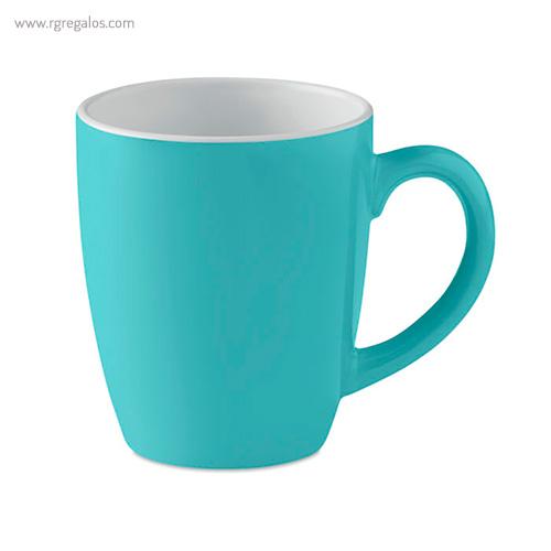 Taza cerámica colores 300 ml azul - RG regalos publicitarios