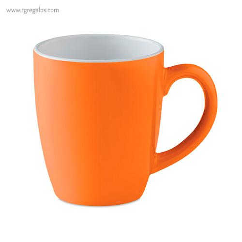 Taza cerámica colores 300 ml naranja - RG regalos publicitarios