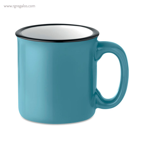 Taza cerámica estilo vintage azul - RG regalos publicitarios