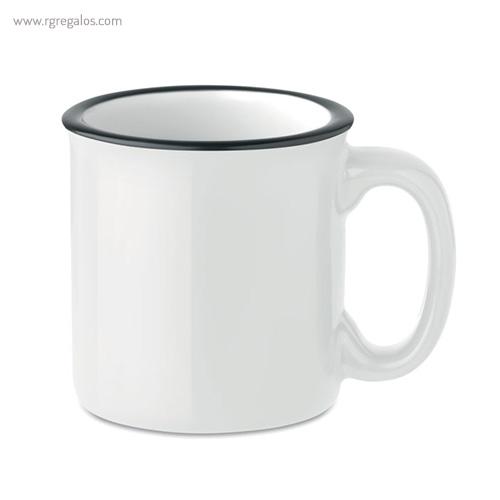 Taza cerámica estilo vintage blanca - RG regalos publicitarios