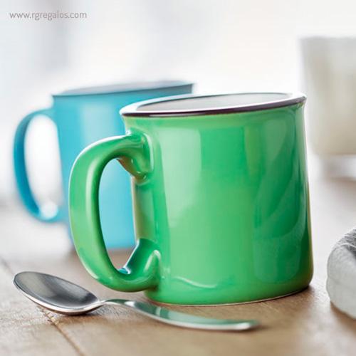 Taza cerámica estilo vintage detalle - RG regalos publicitarios
