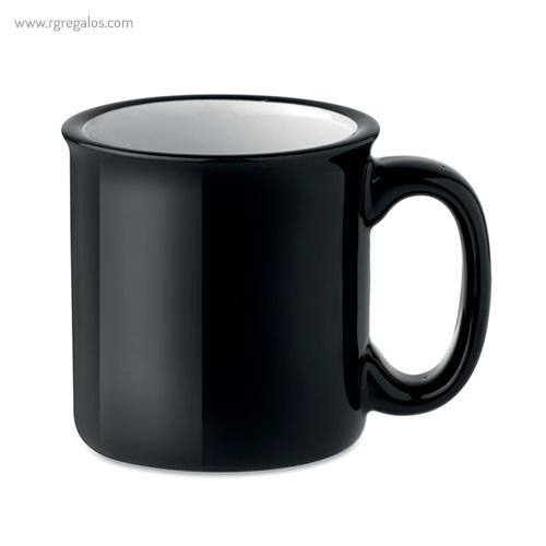 Taza cerámica estilo vintage negra - RG regalos publicitarios
