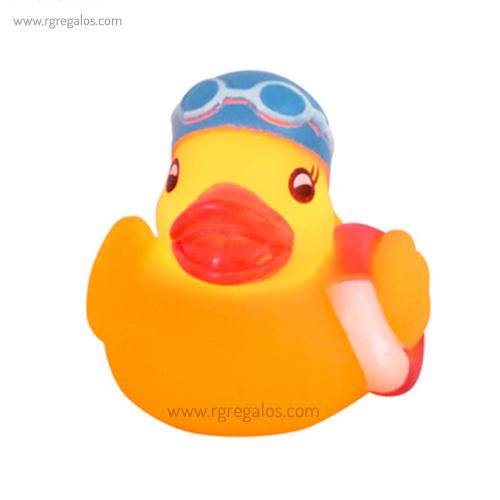 Patito de goma luminoso bañista - RG regalos publicitarios