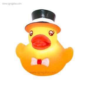 Patito de goma luminoso con sombrero - RG regalos publicitarios