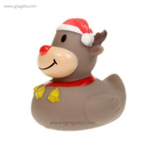 Patito de goma reno Rudolph perfil - RG regalos publicitarios