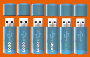 Memorias USB en lugar de bolígrafos o encendedores