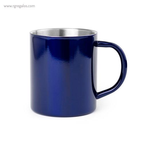 Taza de acero inox 280 ml azul - RG regalos publicitarios