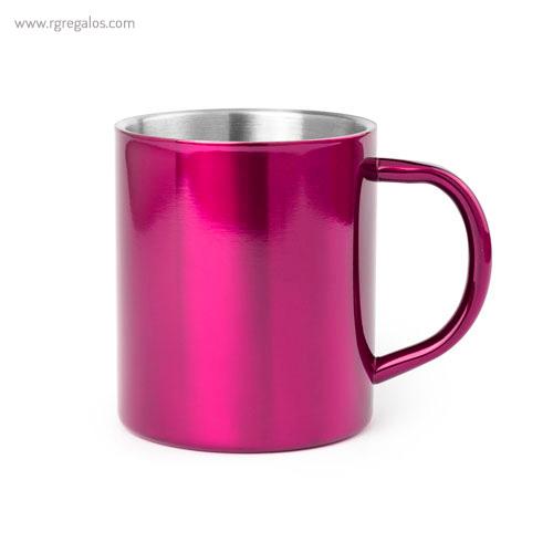 Taza de acero inox 280 ml fucsia - RG regalos publicitarios