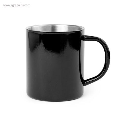 Taza de acero inox 280 ml negra - RG regalos publicitarios