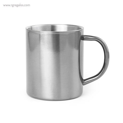 Taza de acero inox 280 ml plata - RG regalos publicitarios