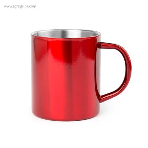 Taza de acero inox 280 ml roja - RG regalos publicitarios