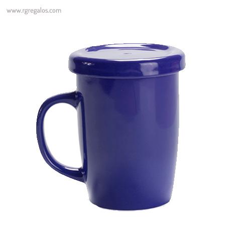Taza de cerámica para te azul - RG regalos publicitarios