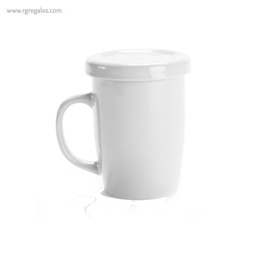 Taza de cerámica para te blanca - RG regalos publicitarios