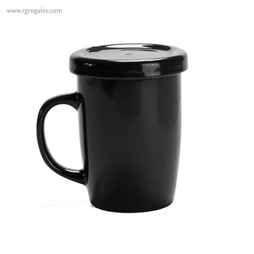 Taza de cerámica para te negra - RG regalos publicitarios