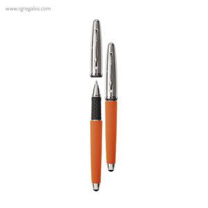 Bolígrafo Borghini V111 efecto soft touch azul - RG regalos publicitarios