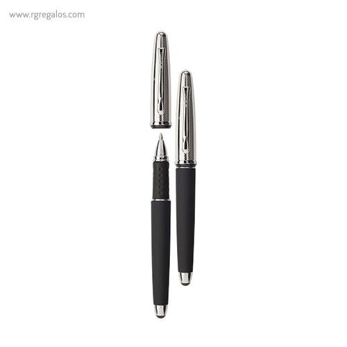 Bolígrafo Borghini V111 efecto soft touch negro - RG regalos publicitarios