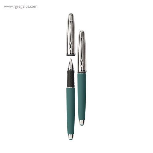 Bolígrafo Borghini V111 efecto soft touch verde - RG regalos publicitarios