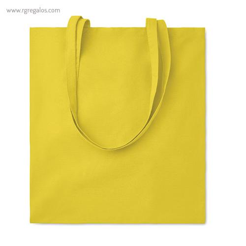 Bolsa 100% algodón colores amarilla - RG regalos de empresa