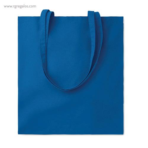 Bolsa 100% algodón colores azul - RG regalos de empresa