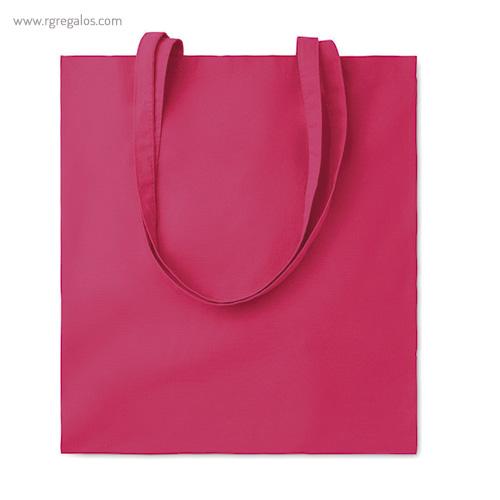 Bolsa 100% algodón colores fucsia- RG regalos de empresa