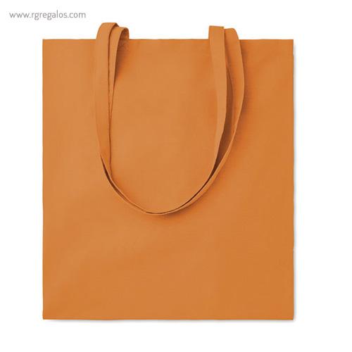 Bolsa 100% algodón colores naranja - RG regalos de empresa
