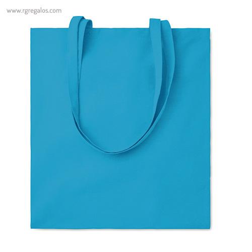Bolsa 100% algodón colores turquesa - RG regalos de empresa