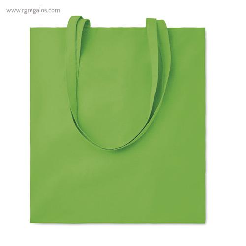 Bolsa 100% algodón colores verde - RG regalos de empresa