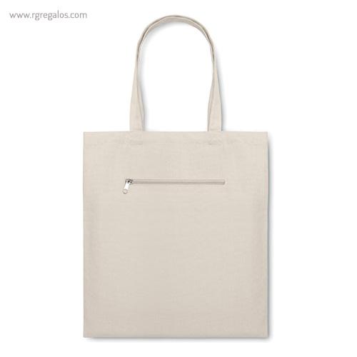 Bolsa con bolsillo exterior natrural - RG regalos publicitarios