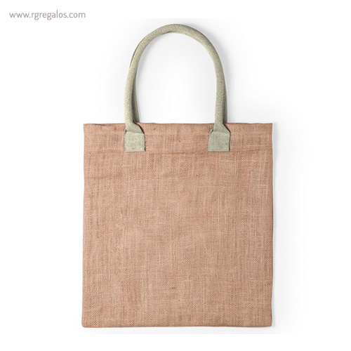 Bolsa de yute asas colores natural - RG regalos publicitarios